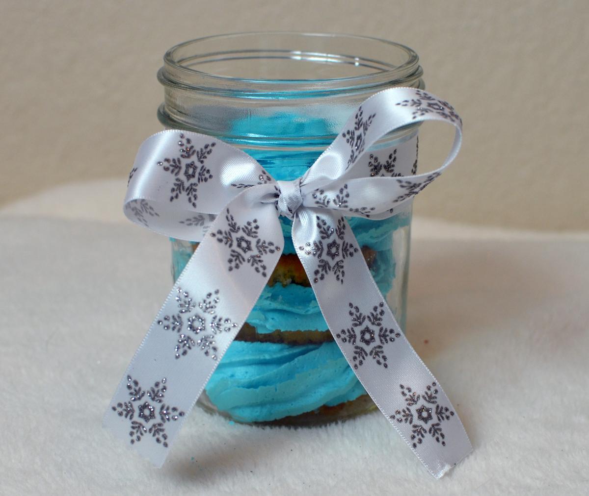Jar with Cake icing